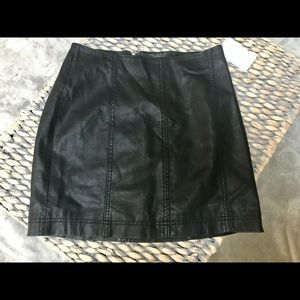 NWT Free People Faux Leather Skirt